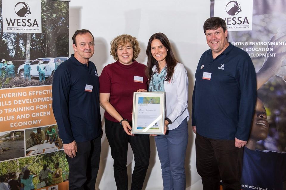 WESSA CEO, Susan Scott and Bonne de Bod with Chairman