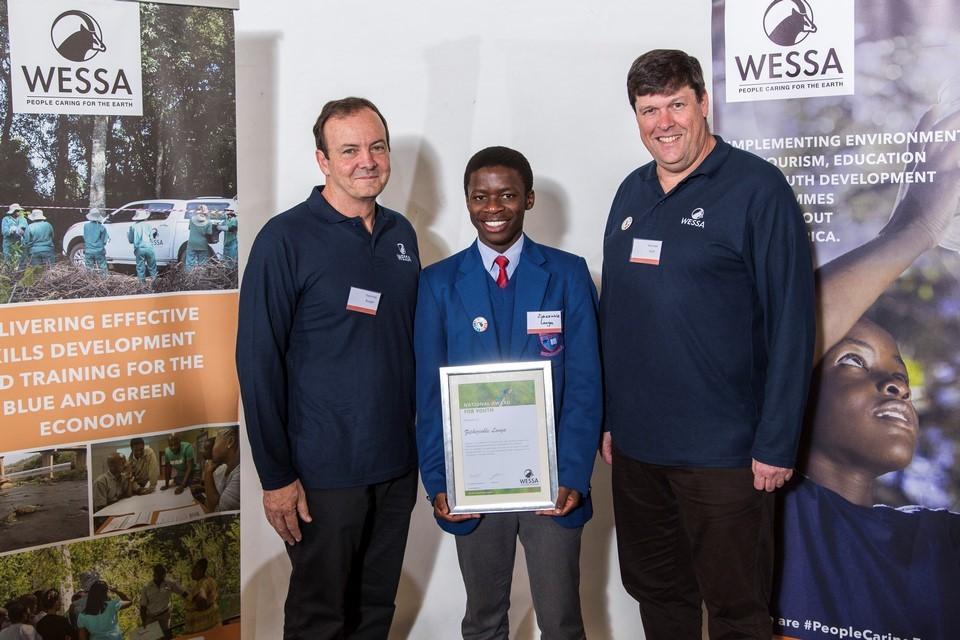 WESSA CEO, Ziphezinhle Langa youth winner and Chairman